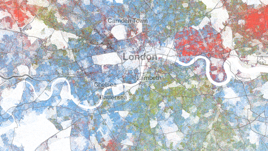 London ethnicity dot map