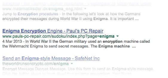 Enigma repair?